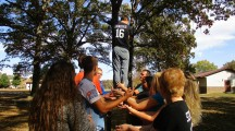 STRIVE students attend team-building training